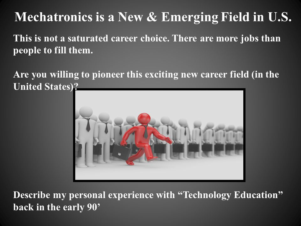 Mechatronics is a New & Emerging Field in U.S.