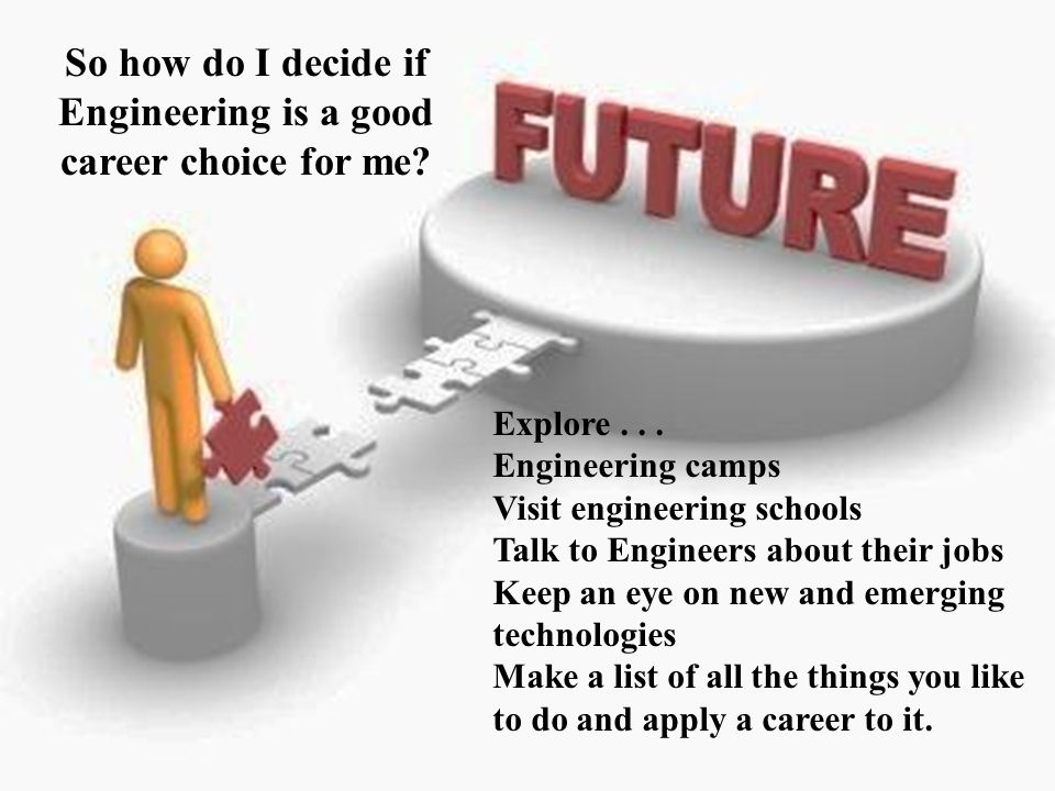 So how do I decide if Engineering is a good career choice for me