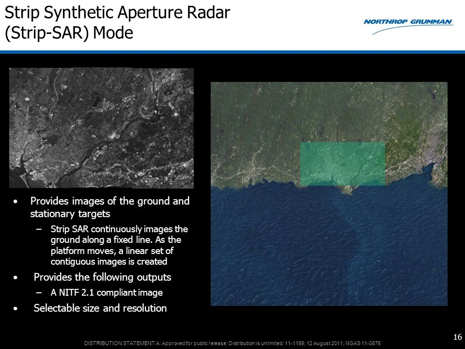 Strip Synthetic Aperture Radar (Strip-SAR) Mode