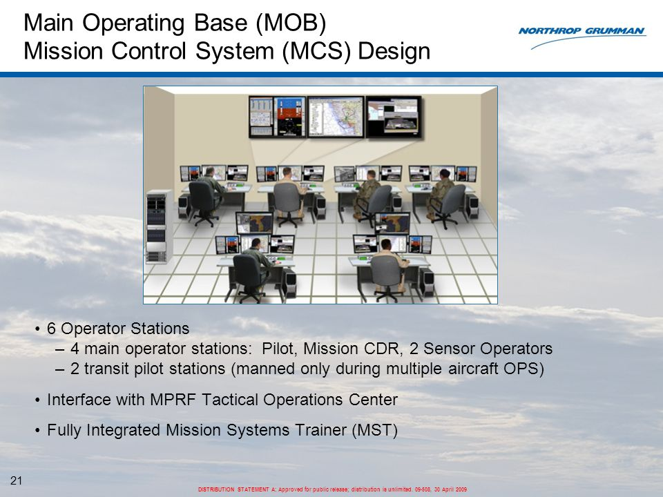 Main Operating Base (MOB) Mission Control System (MCS) Design