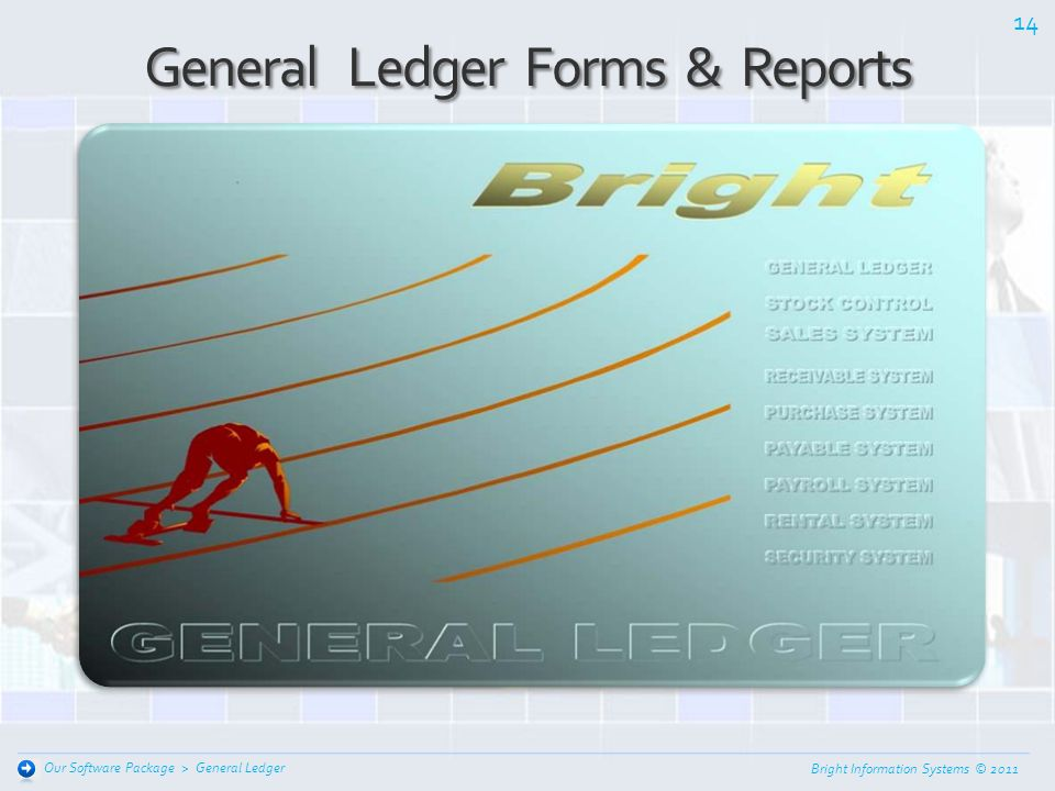 General Ledger Forms & Reports