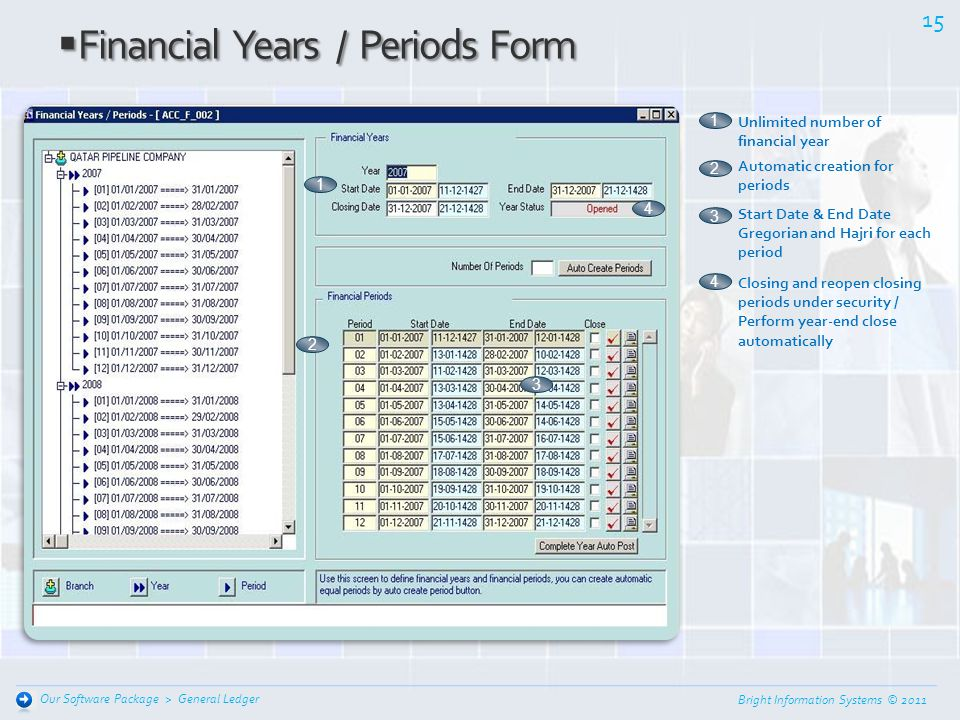 Financial Years / Periods Form