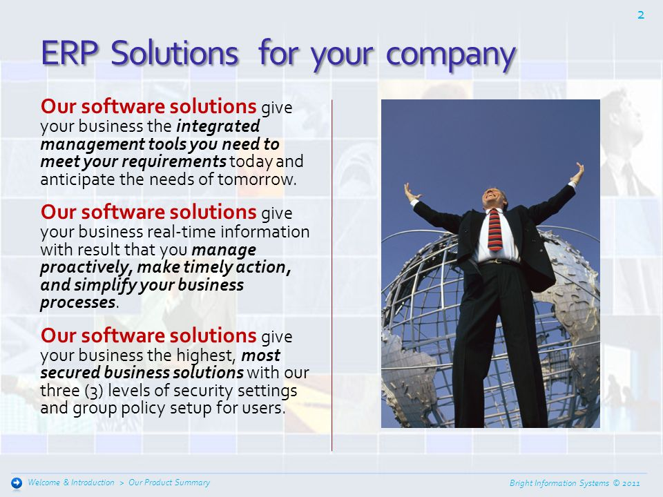 ERP Solutions for your company