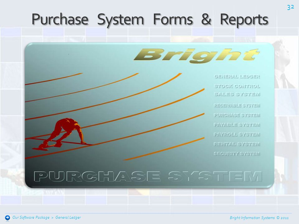 Purchase System Forms & Reports