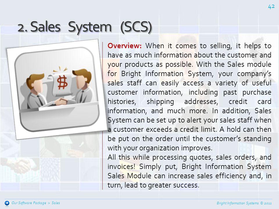 2. Sales System (SCS)