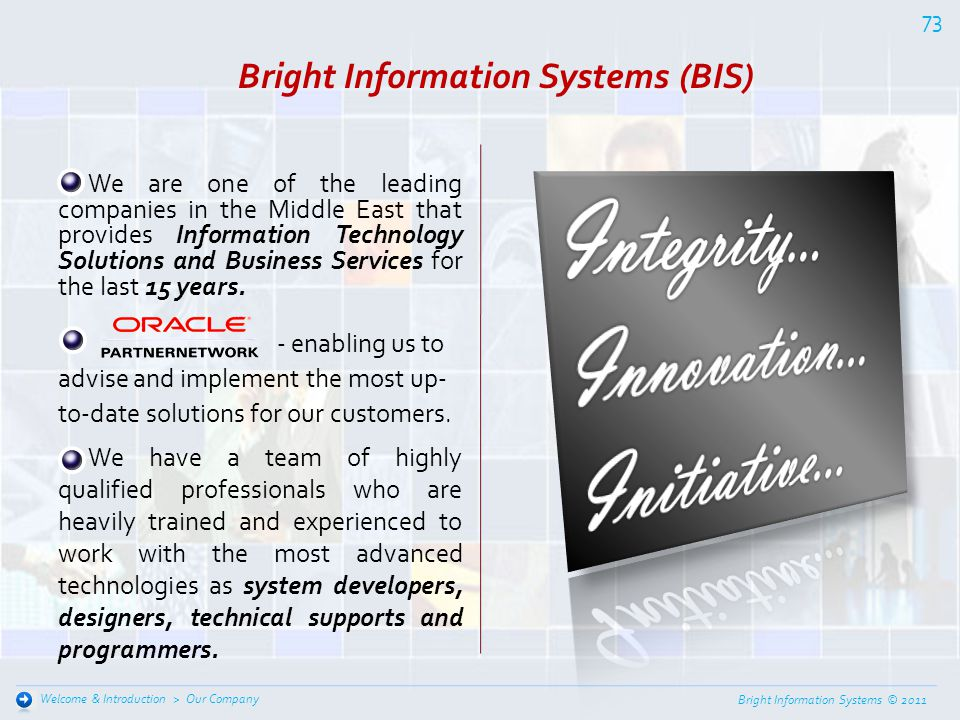 Bright Information Systems (BIS)