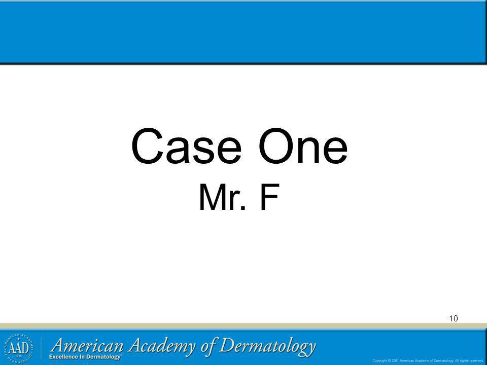 Case One Mr. F