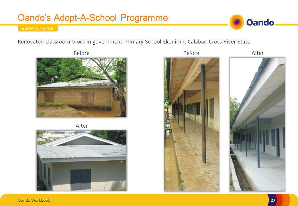 Oando's Adopt-A-School Programme
