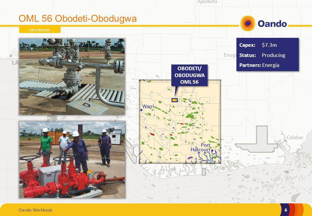 OML 56 Obodeti-Obodugwa Capex: $7.3m Status: Producing