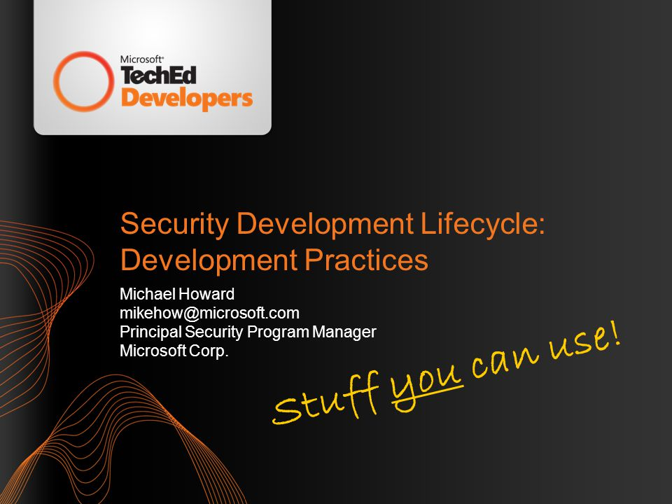 Security Development Lifecycle: Development Practices