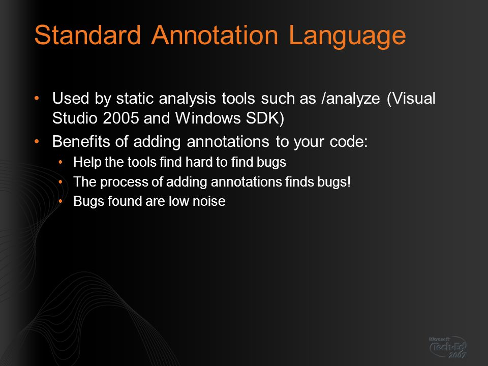 Standard Annotation Language