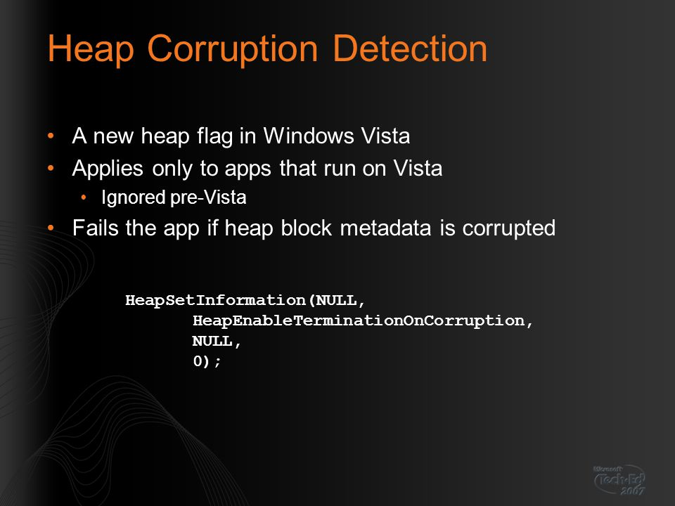 Heap Corruption Detection