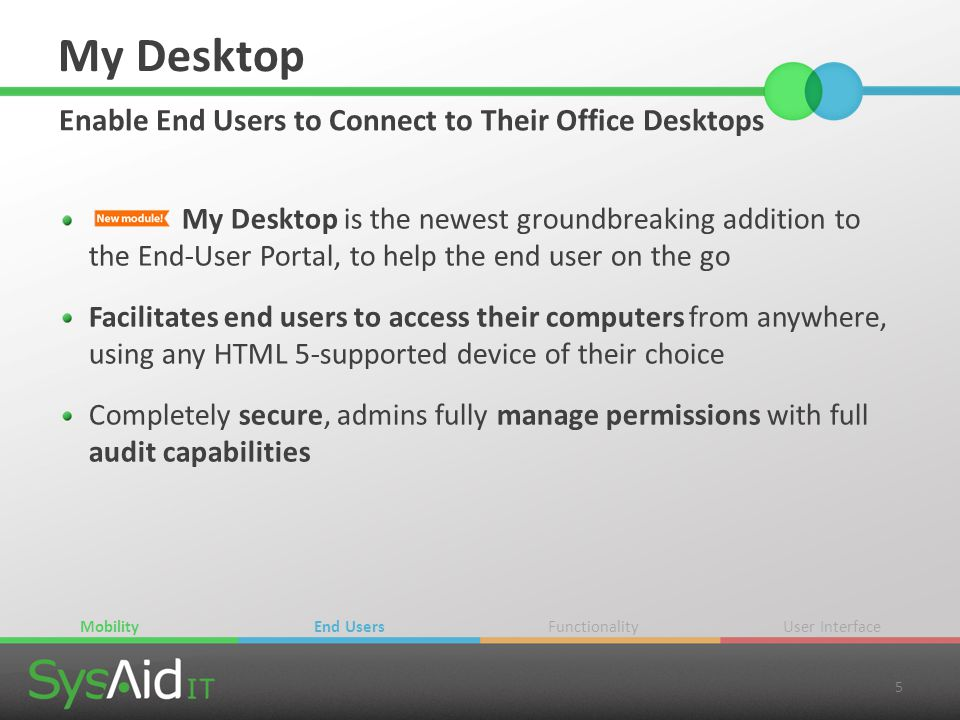 My Desktop Enable End Users to Connect to Their Office Desktops