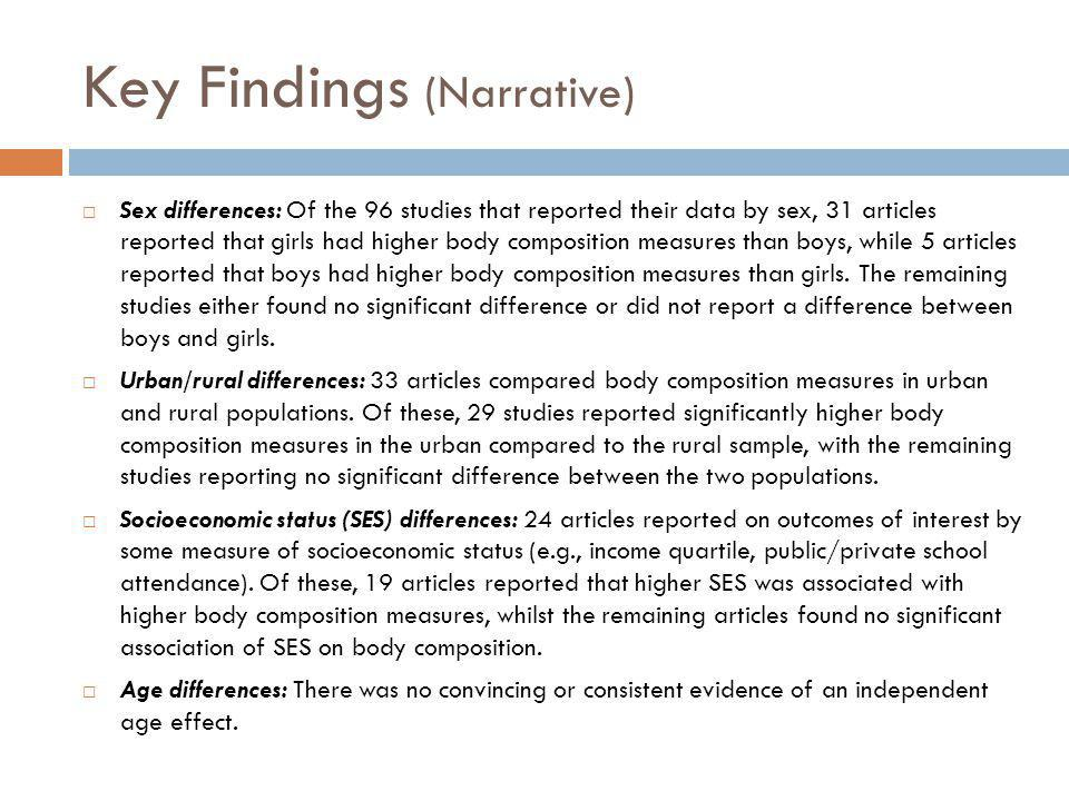 Key Findings (Narrative)