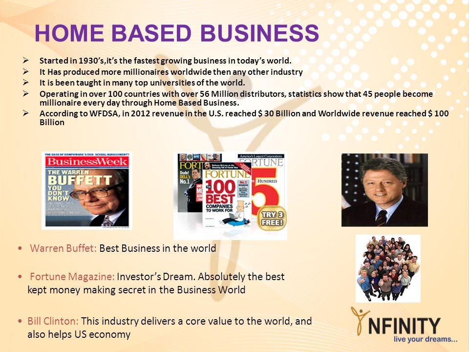 HOME BASED BUSINESS Warren Buffet: Best Business in the world
