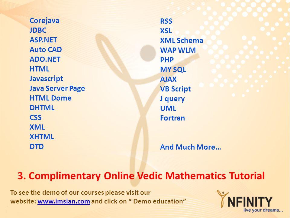 3. Complimentary Online Vedic Mathematics Tutorial