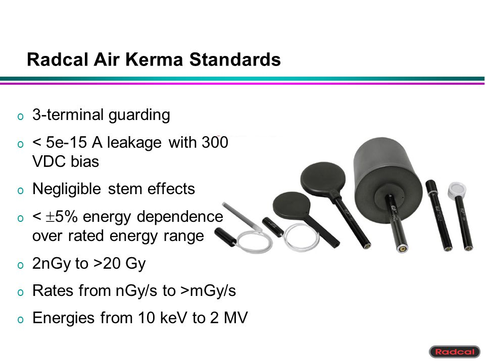 Radcal Air Kerma Standards