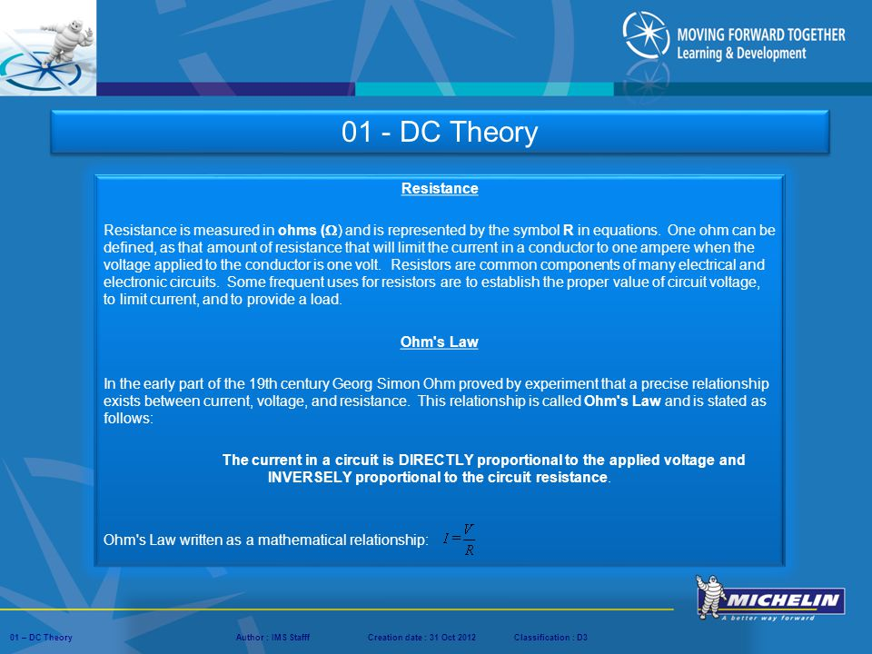 01 - DC Theory Resistance.
