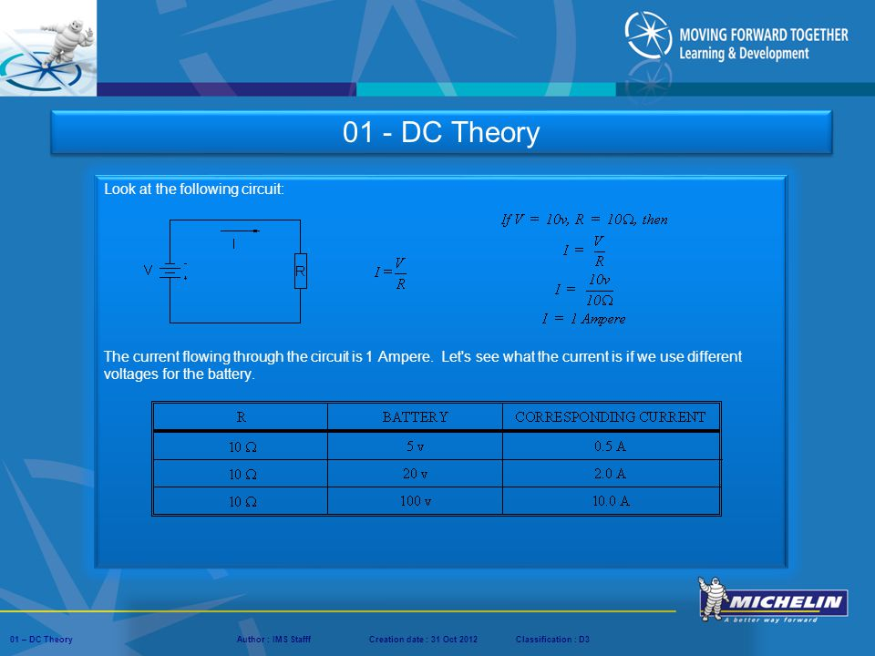 01 - DC Theory Look at the following circuit: