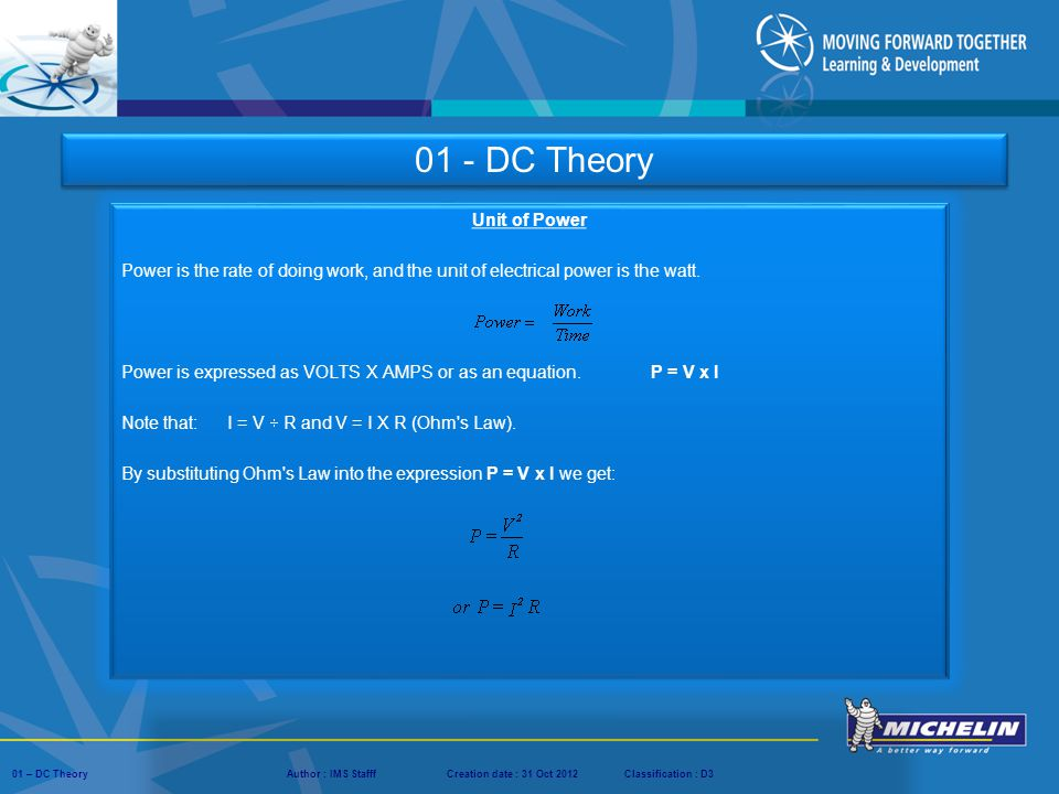 01 - DC Theory Unit of Power