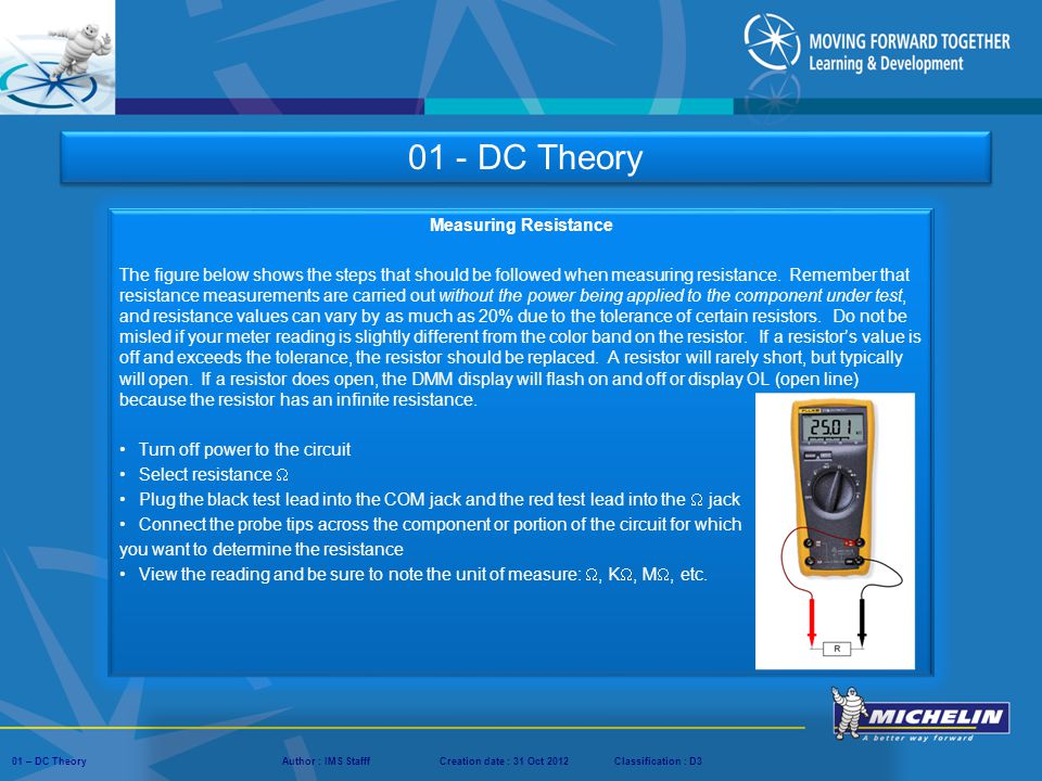 01 - DC Theory Measuring Resistance