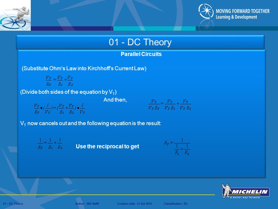 01 - DC Theory Parallel Circuits