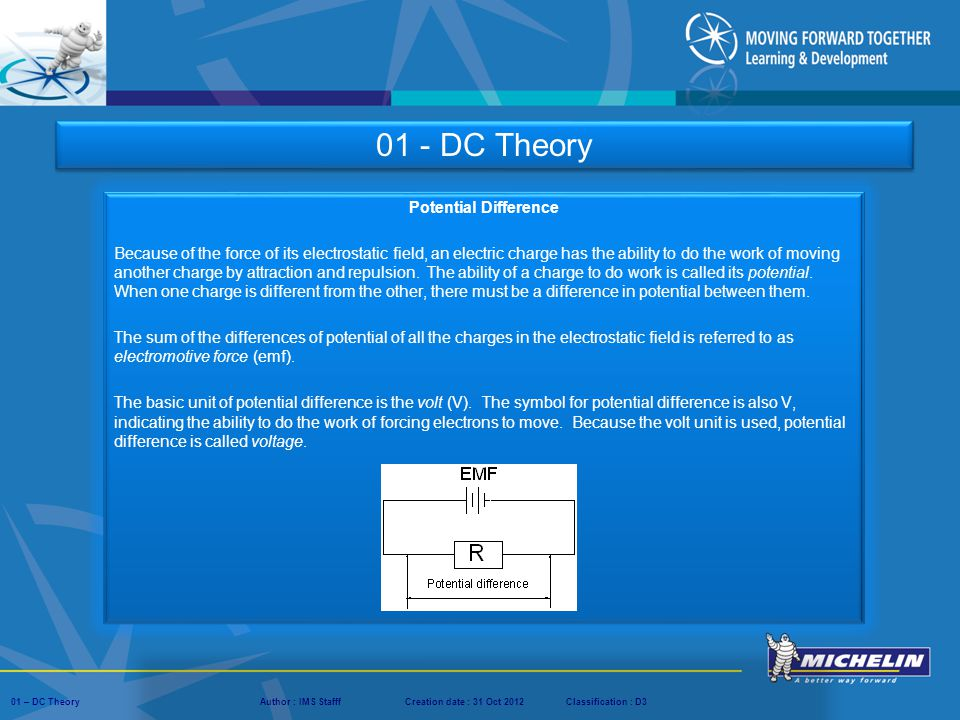 01 - DC Theory Potential Difference