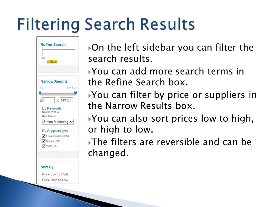 Filtering Search Results
