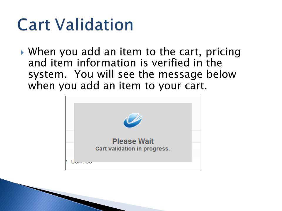 Cart Validation