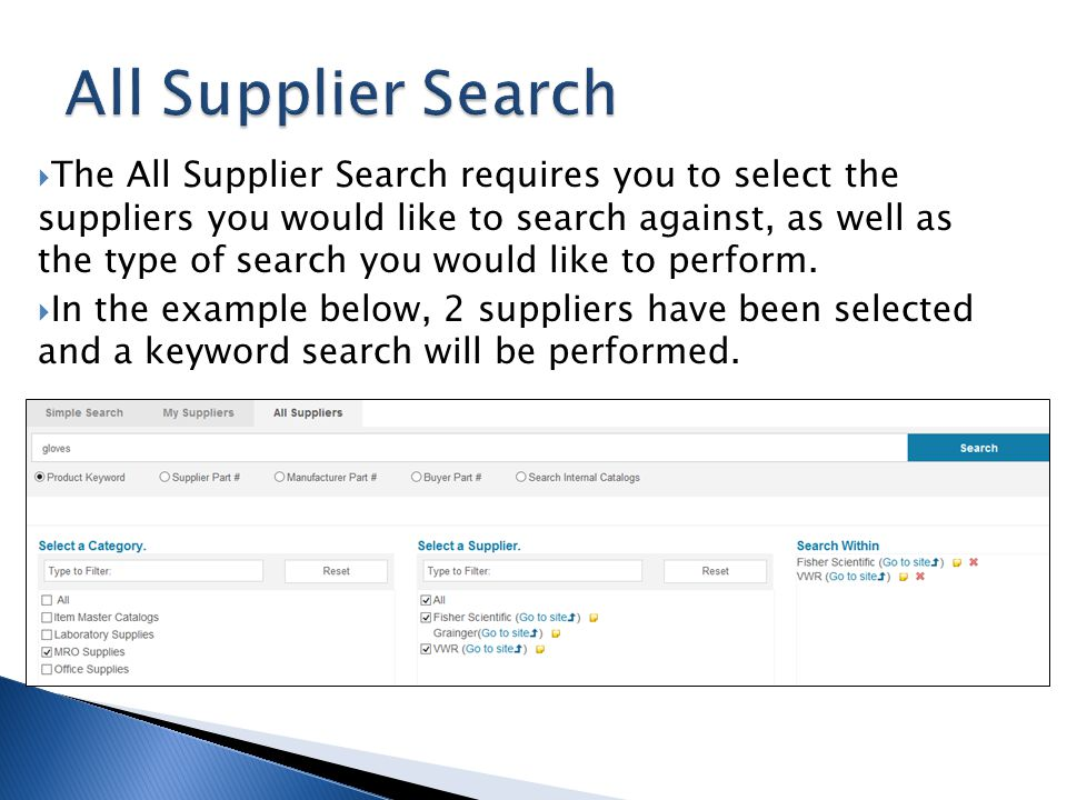 All Supplier Search