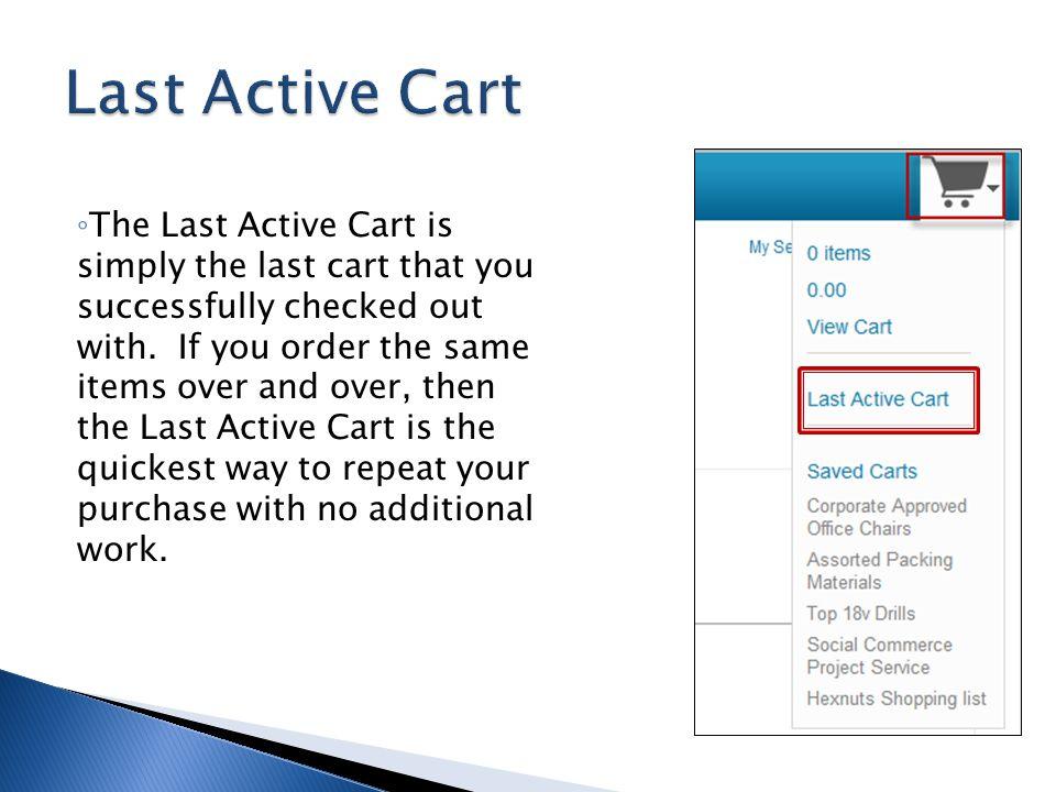 Last Active Cart