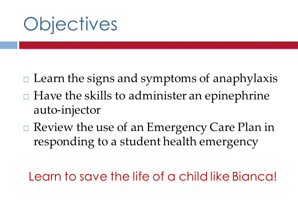Learn to save the life of a child like Bianca!