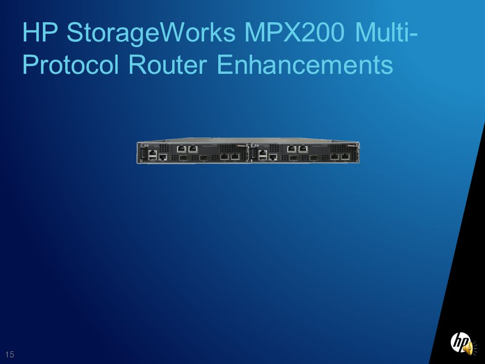 HP StorageWorks MPX200 Multi-Protocol Router Enhancements