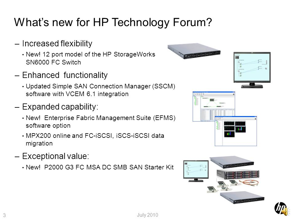 What's new for HP Technology Forum