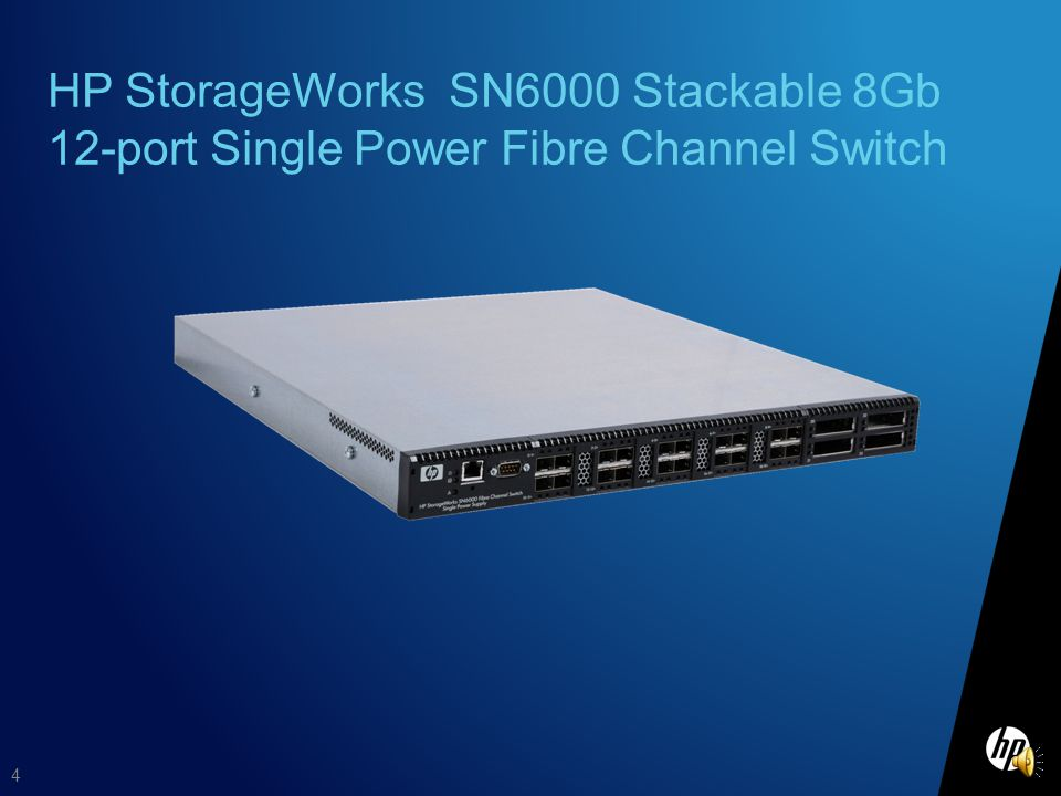 HP StorageWorks SN6000 Stackable 8Gb 12-port Single Power Fibre Channel Switch