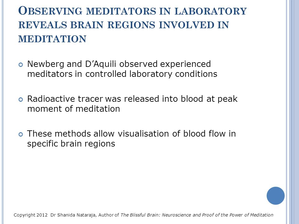 Observing meditators in laboratory reveals brain regions involved in meditation