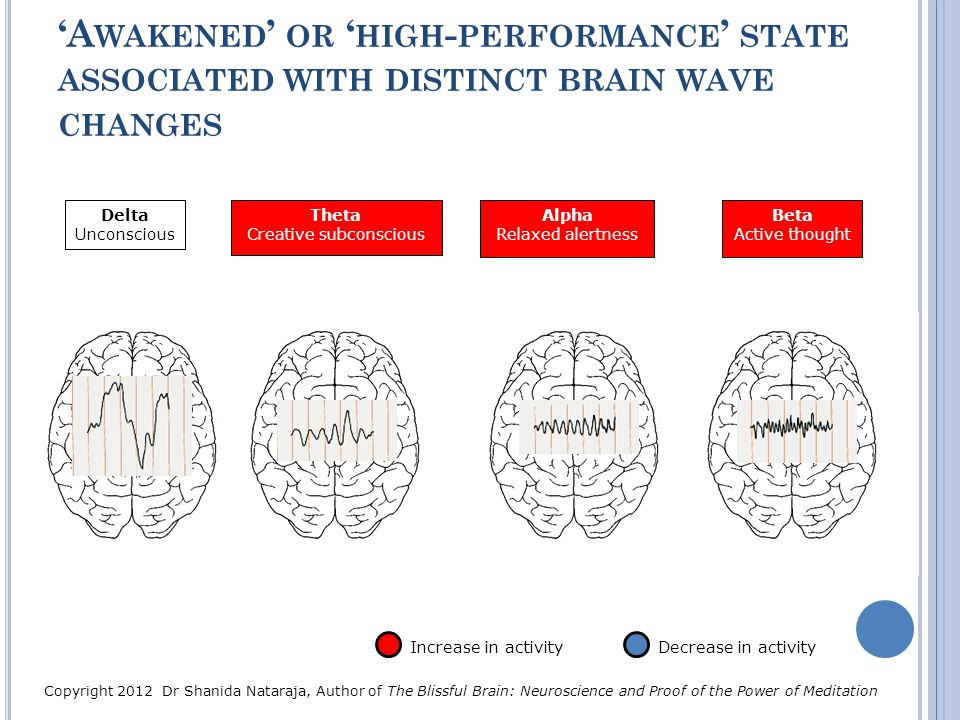 'Awakened' or 'high-performance' state associated with distinct brain wave changes