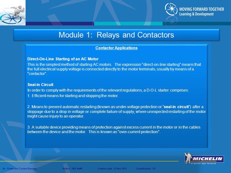 Contactor Applications