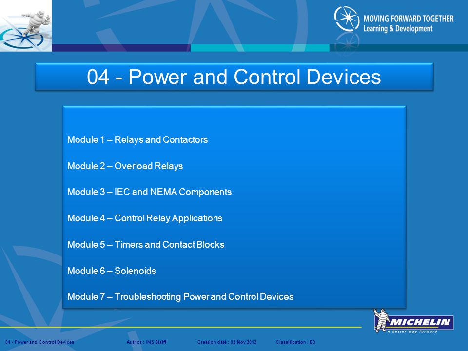 04 - Power and Control Devices