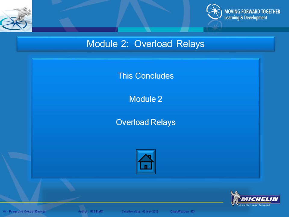 This Concludes Module 2 Overload Relays