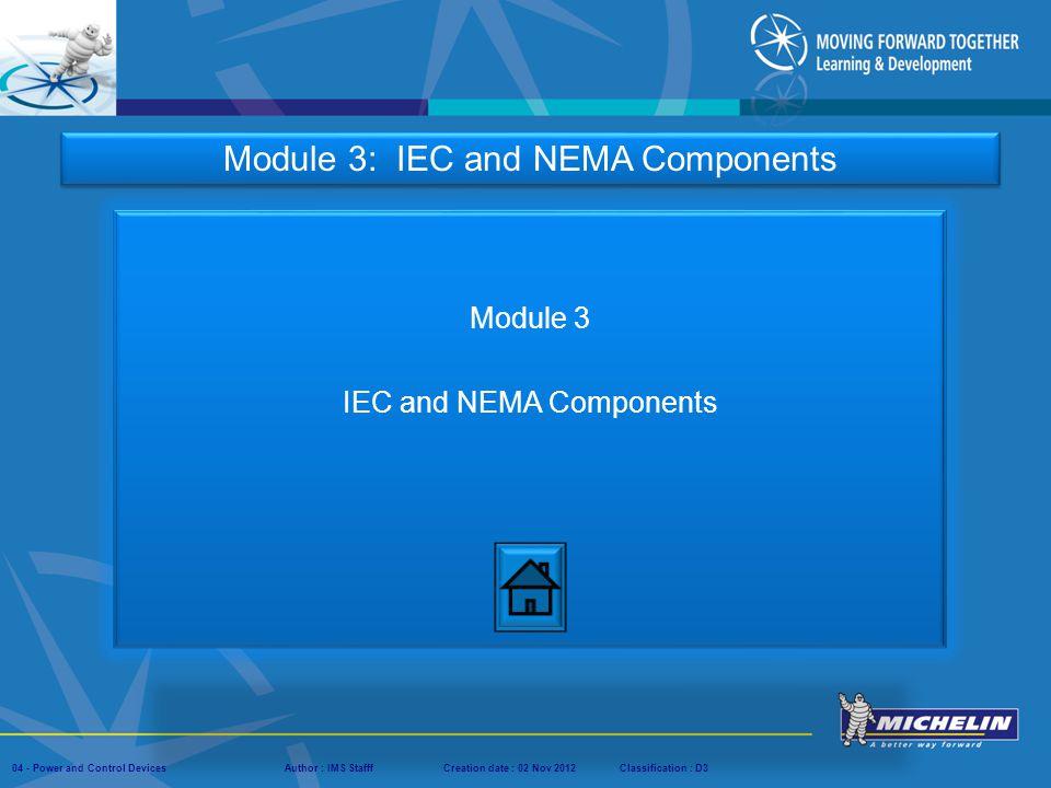 Module 3 IEC and NEMA Components