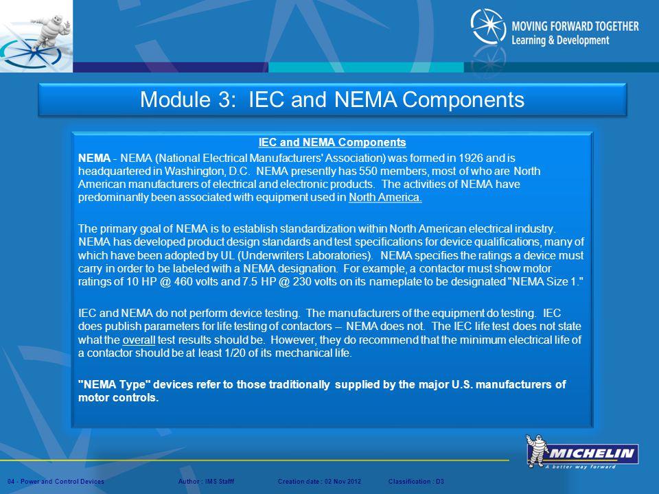 IEC and NEMA Components