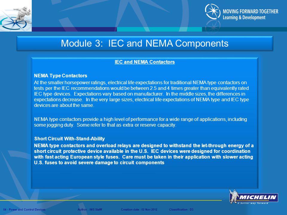 IEC and NEMA Contactors