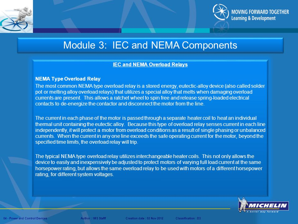 IEC and NEMA Overload Relays