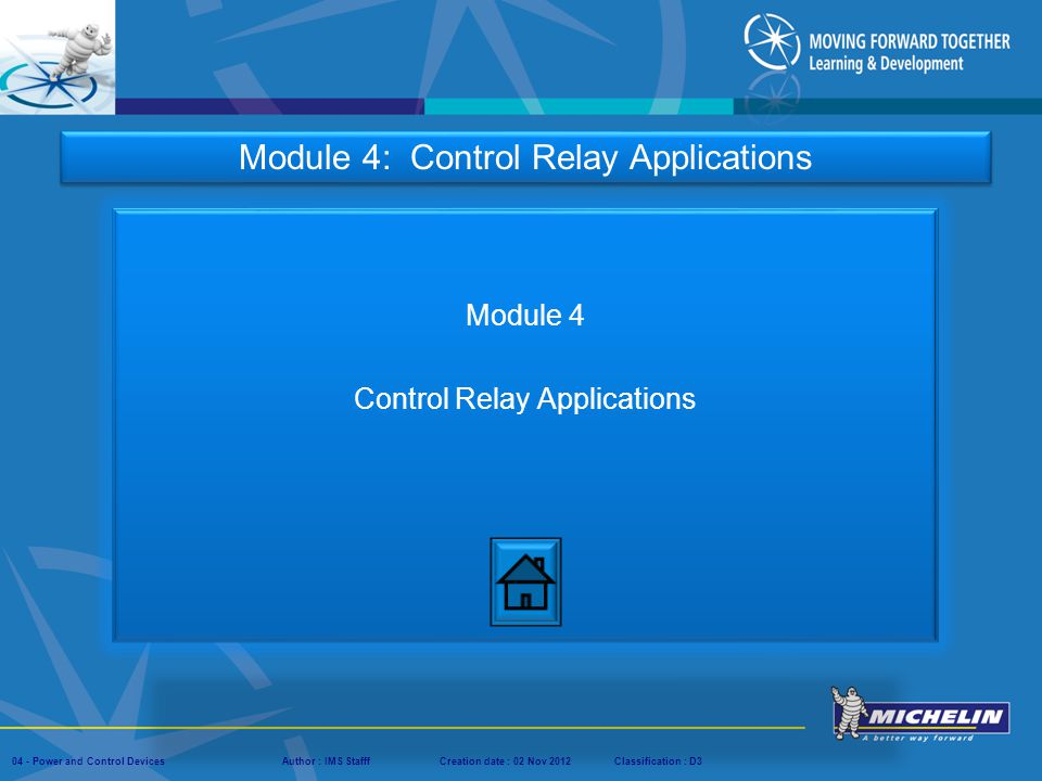 Module 4 Control Relay Applications