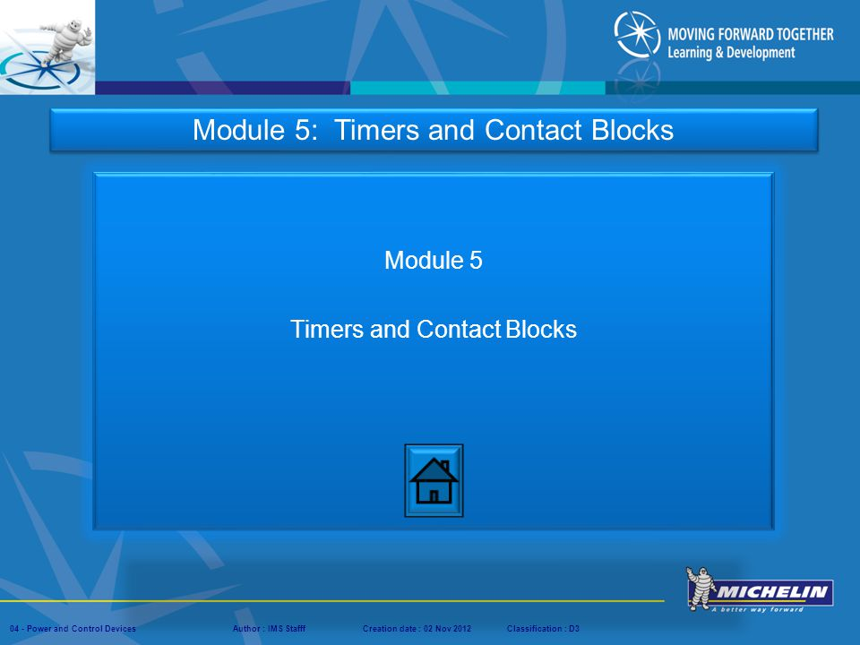 Module 5 Timers and Contact Blocks