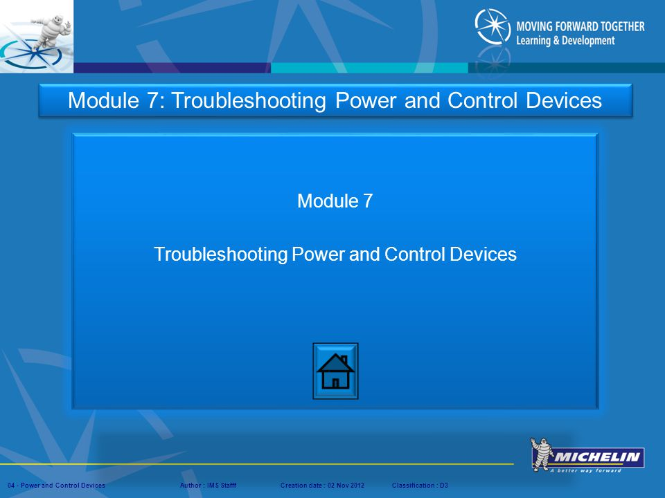 Module 7 Troubleshooting Power and Control Devices