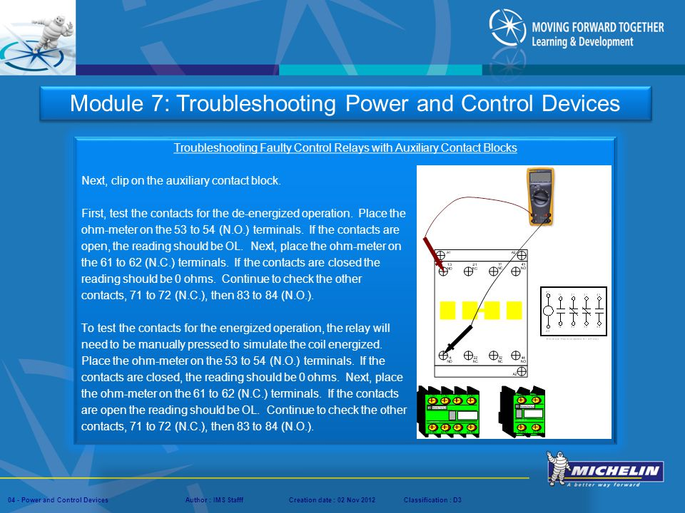 Module 7: Troubleshooting Power and Control Devices