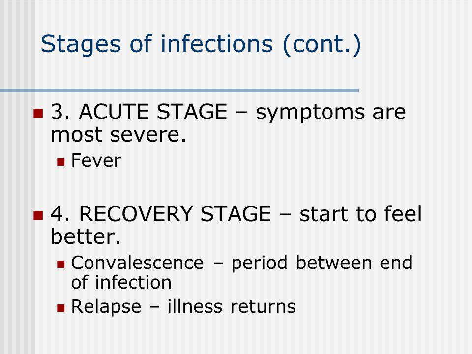 Stages of infections (cont.)