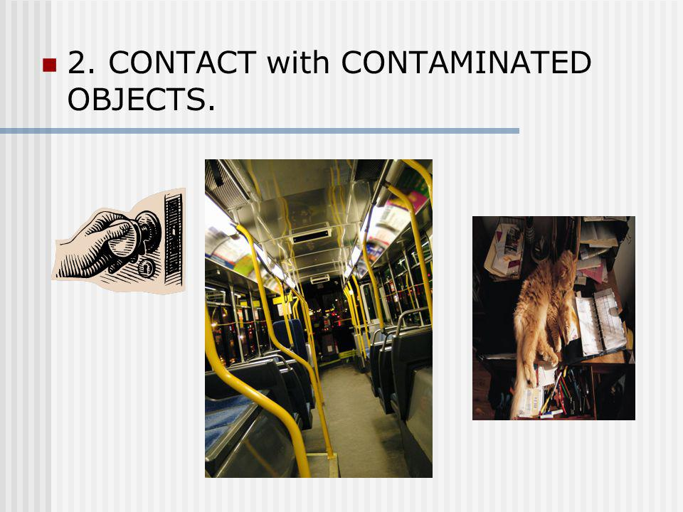 2. CONTACT with CONTAMINATED OBJECTS.